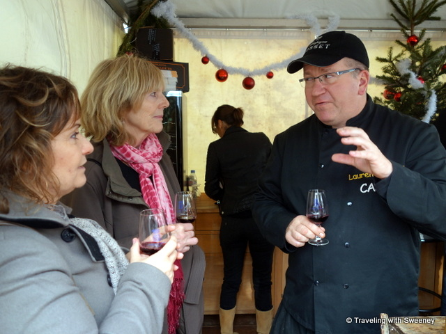 Tasting wine with Domaine St. Louis Jayne proprietor, Laurent Jayne