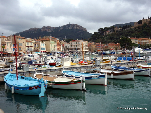 Quai Barthélemy -- Boats in the harbor of Cassis, Provence