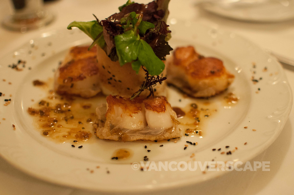 Nova Scotian scallops, Stories Restaurant