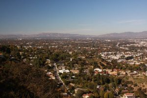 View from Mulholland drive overlooking the San Fernando Valley
