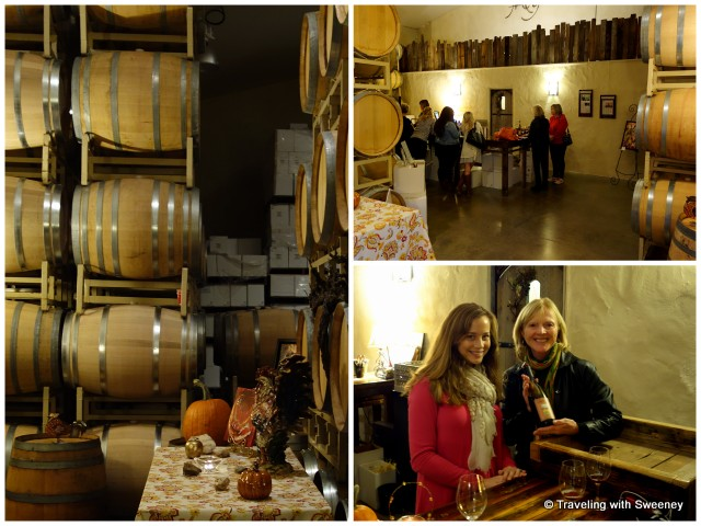 Cozy ambiance of Narrow Gate Winery