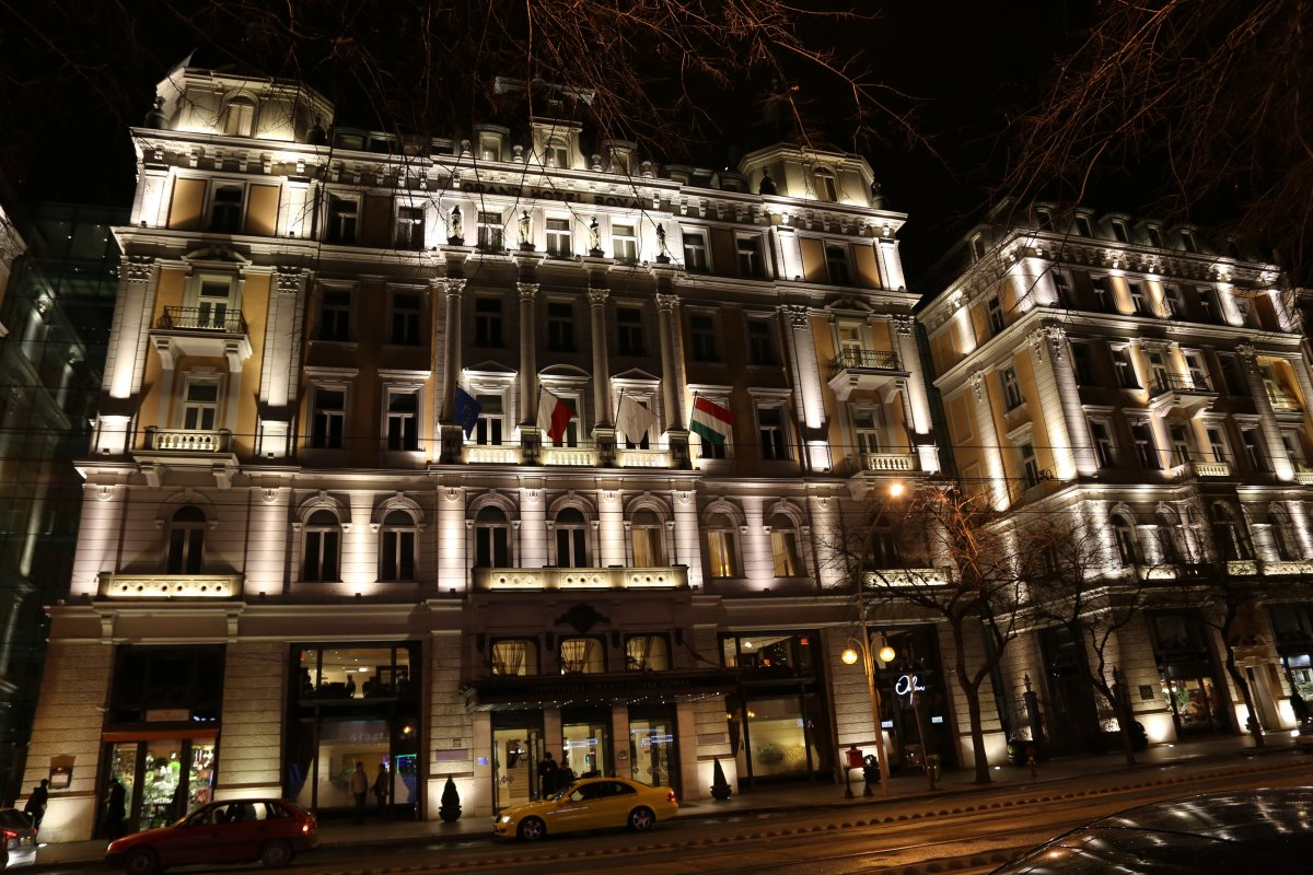 The Corinthia at night