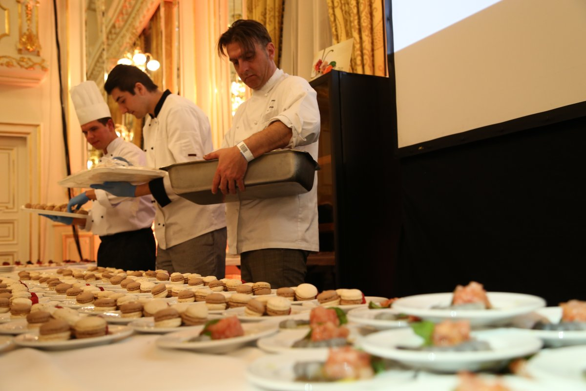 Preparing some of the delicious food at one of the gastronomy events