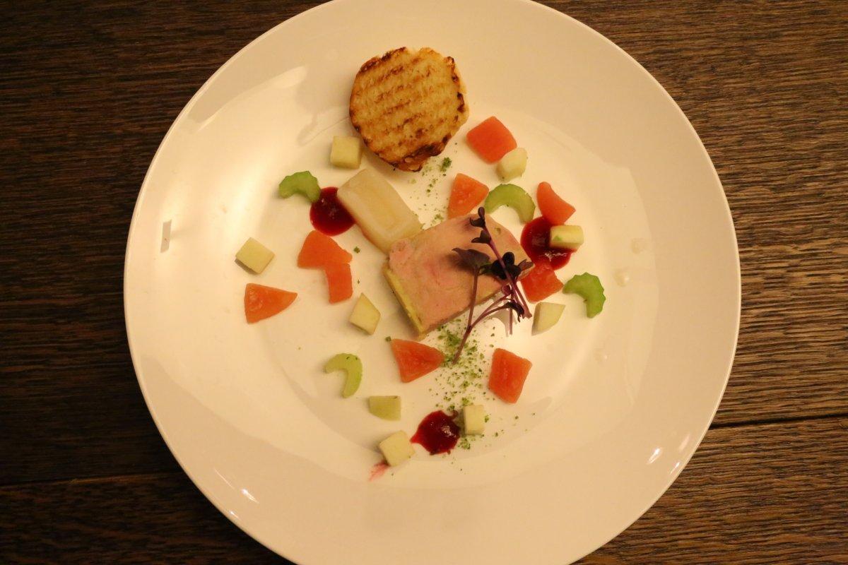 Liver pate dish, restaurant ES Kempinski Hotel Budapest