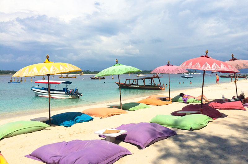 Trawangan, one of the Gili Islands in Indonesia