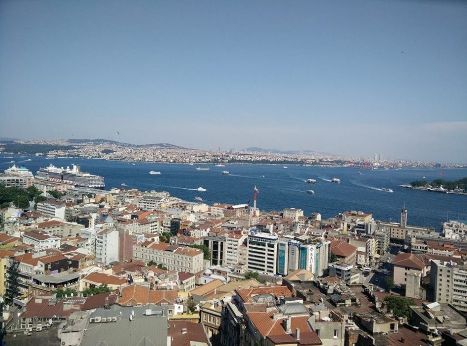 View from the top of Galata Tower