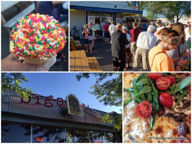 Ice cream at Big Dipper and pizza at Biga Pizza -- a perfect combination for a warm summer evening