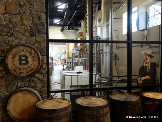 "A peek inside the distillery of Bozeman Spirits with a cameo appearance by ""The Duke"""