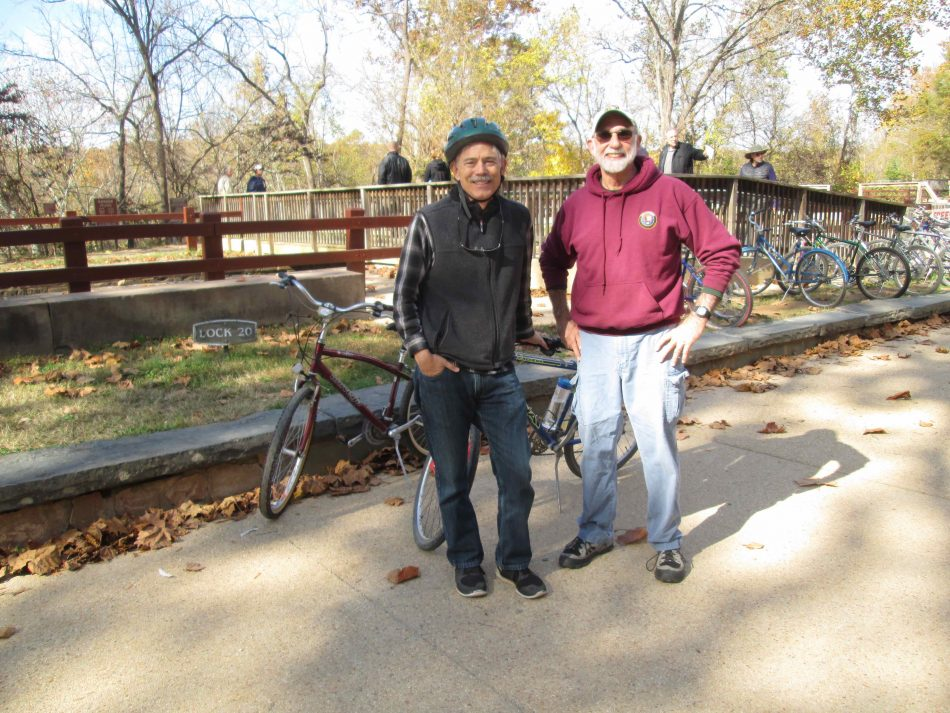 "Author with Ric Jackson, founder of ""Free Bike Program"""