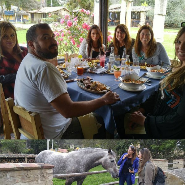 Good #friends and fantastic #lunch #farm #fresh #food #elportico #colombiaismagicalrealism #aviancateconecta #Bogota