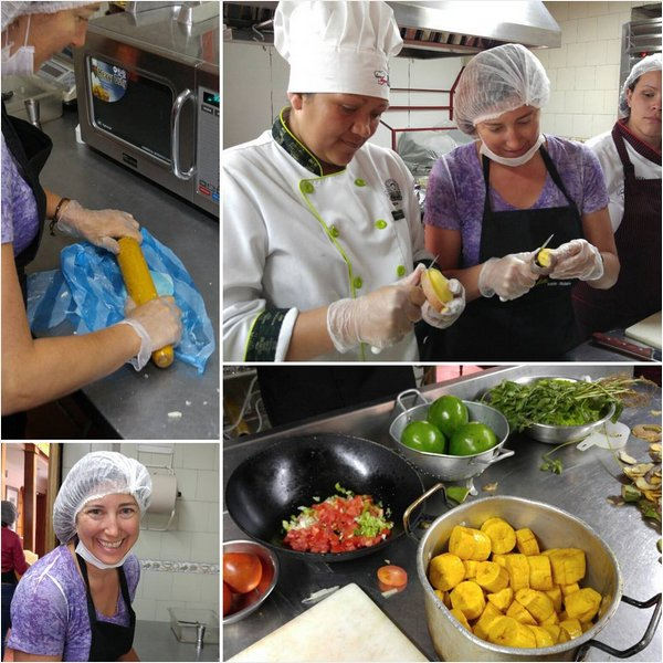 Learning to #cook patacones, empanadas and Ajiaco. Cafe de citas bogota. Made with love and passion and a pinch of Lucy Ricardo. #colombiaismagicalrealism #aviancateconecta #lgg4