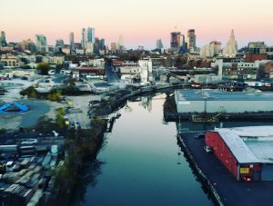 Gowanus Canal shot from Smith 9th St station