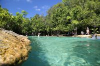 A Shot of Color in the Jungle, Emerald Pool and the Blue Pool – With a Heated Natural Stream Thrown in for Good Measure!