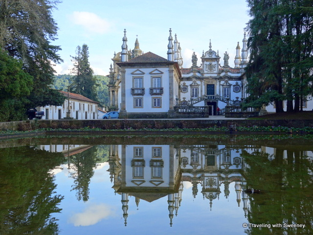 Reflections in the pond at Mateus Palace