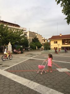 The park in the town square