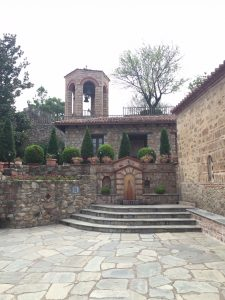 The courtyard of the Holy Monastery of Great Meteora