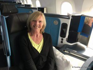 Cathy on Dreamliner 1