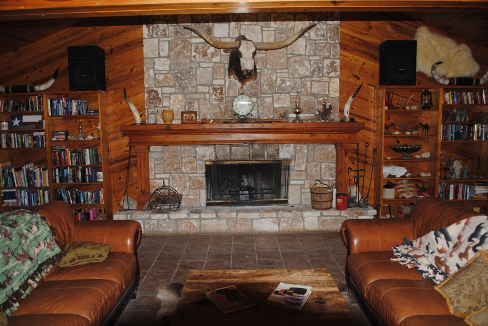 The living room at the Ranch