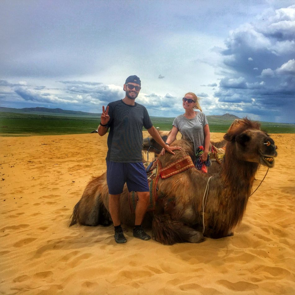 Kim & Rob living it up in Mongolia