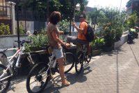 On a Bike Through an Indonesian Kampong