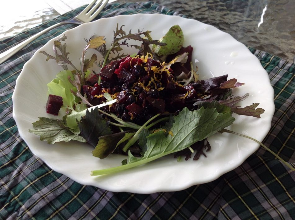 Cape Breton - Chanterelle Inn - Blueberry and Beet Salad 1