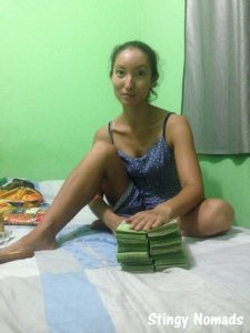 In Venezuela counting your money takes a lot of time. 50B notes (equivalent of $10 notes).