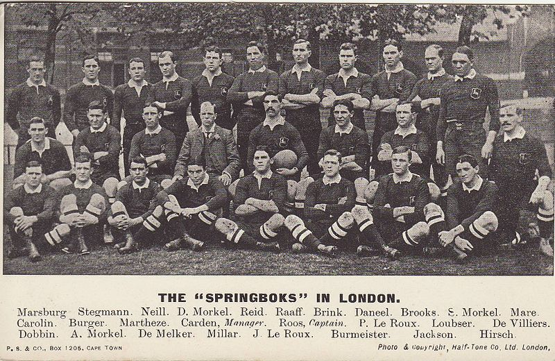 The Springbok rugby team in 1906 - photo: public domain.