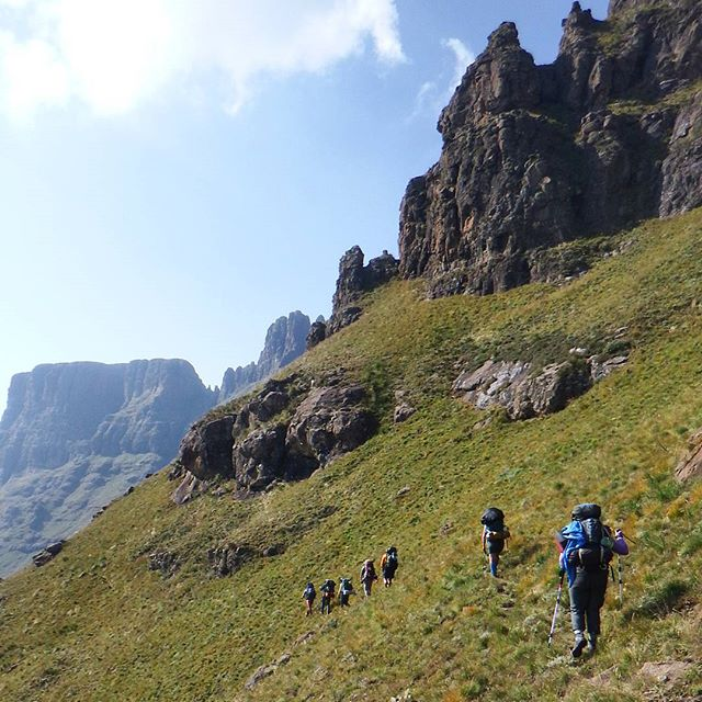 In good company- my trekker friends blazing the more remote trails of Drakensberg in South Africa. Surrounding yourself with like-minded people leads you closer to your off the beaten path dreams.