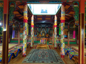 Inside a buddhist monastery