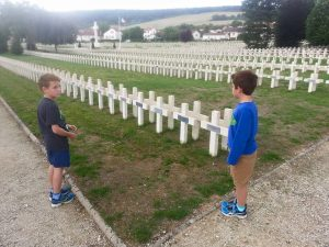 A new generation is introduced to the destruction of Verdun at one of many cemeteries in Verdun.