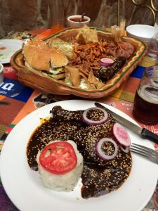 Mole Poblano, the local specialty