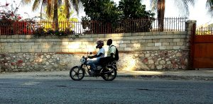 The ubiquitous motorcycle taxi