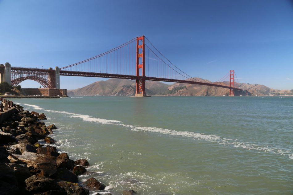 Golden Gate Bridge from near Marina beach