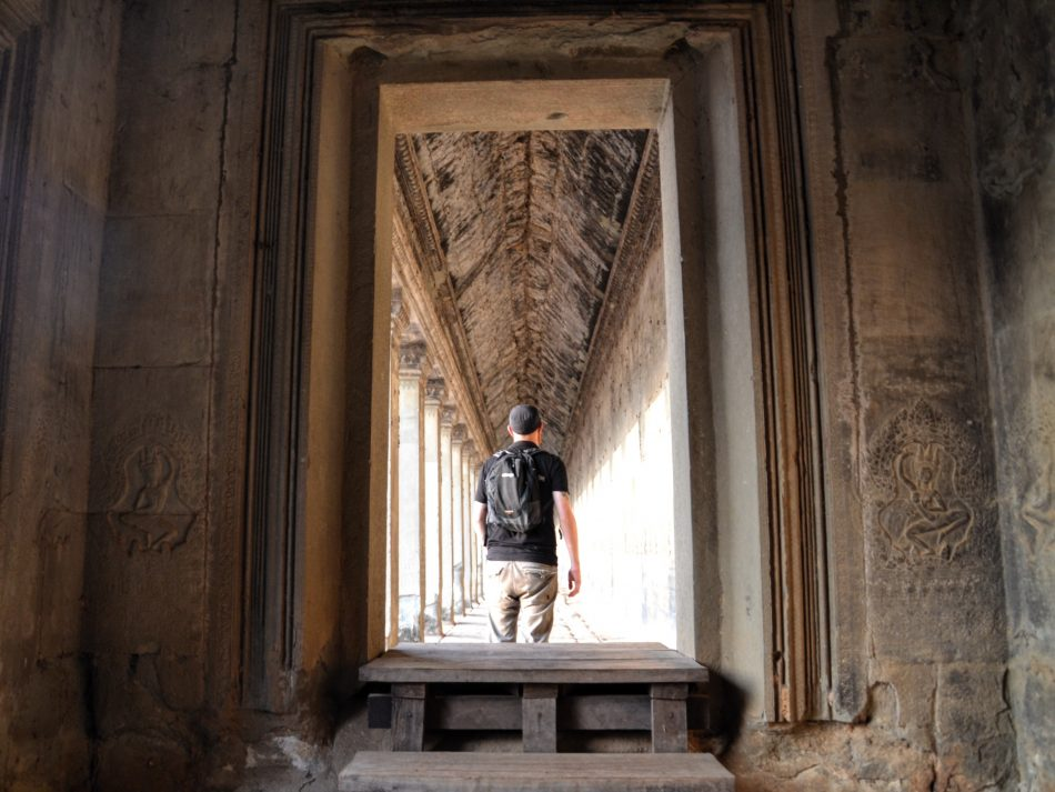 Solo traveller in Angkor Wat
