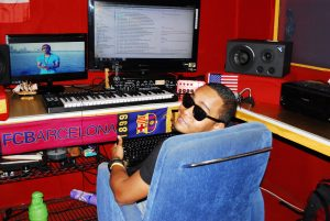 Former gang member Nico Mercado in his studio