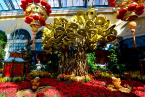 Bellagio Conservatory Chinese New Year display.Friday, February 5, 2016.  CREDIT: Glenn Pinkerton/Las Vegas News Bureau