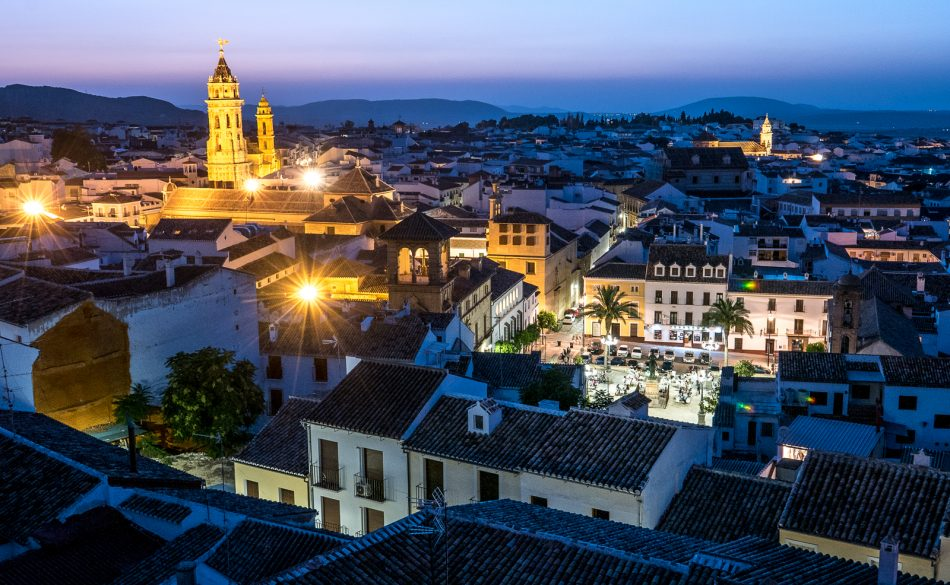 Antequera, Spain in the evening