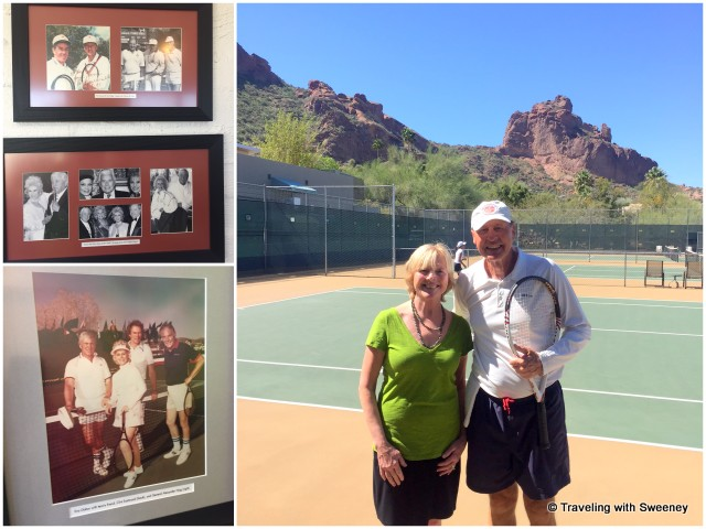 Photographs of celebrity guests; tennis pro Horst Falger
