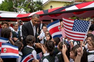Barak Obama visits student in Costa Rica