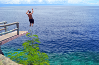 Cliff Diving In Panglao