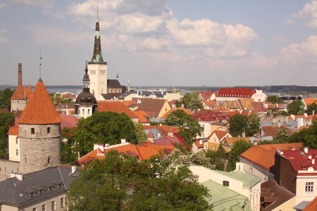 Overview of old town Tallinn
