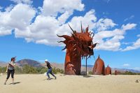 Giant Serpent and Scorpion Sculptures in Borrego Springs, CA