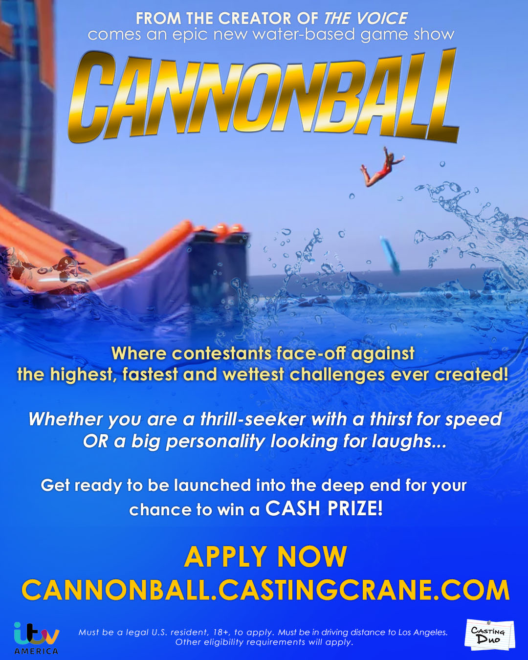 Cannonball Casting Now, Los Angeles - Dave's Travel Corner
