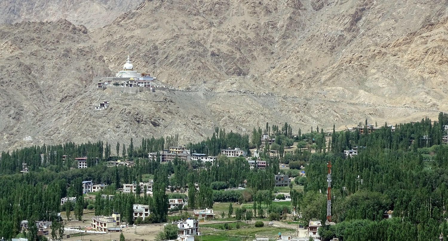 Leh CIty And Shanti Stoopa