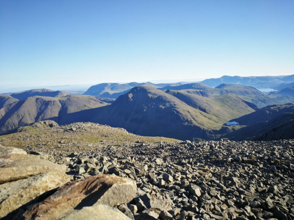 View from the top of Scafell Pike from the easy route from Wasdale Head