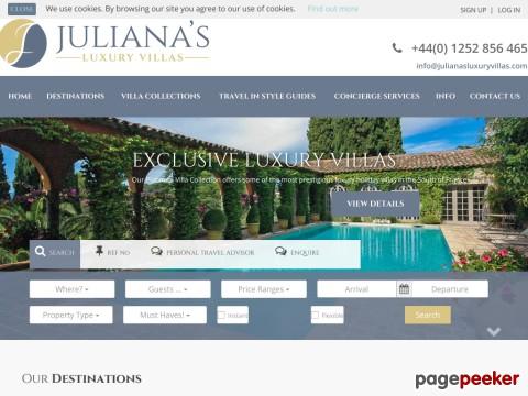 Holiday villa rentals | Julianas Luxury Villas