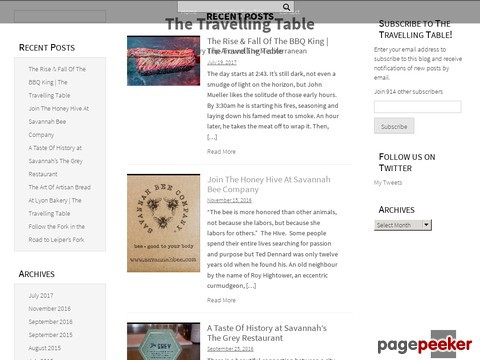 The Travelling Table