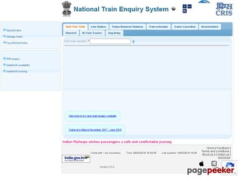Train Enquiry