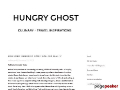 Hungry Ghost, Food & Travel