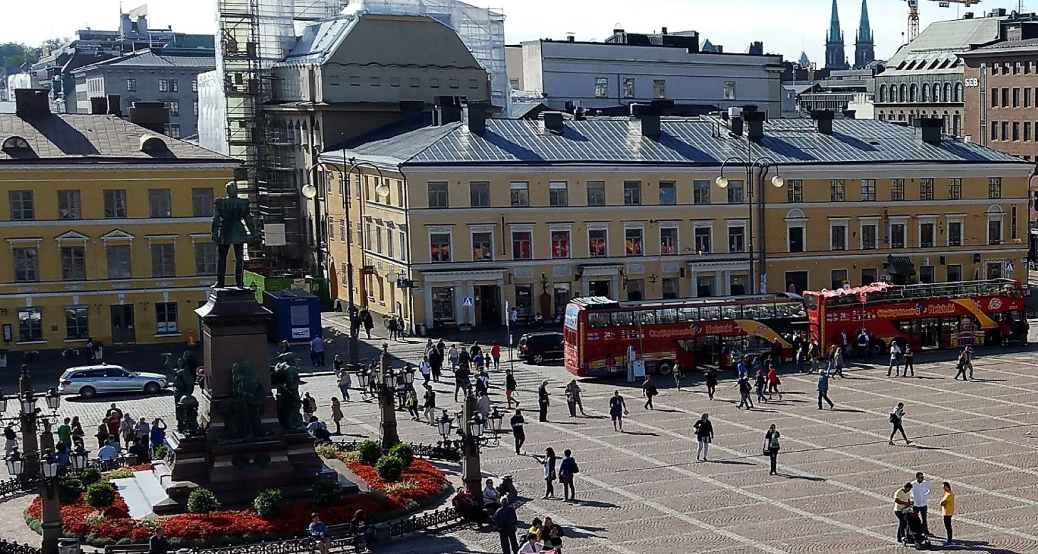 A picture of Senate Square in Helsinki, Finland.-Scandinavian cruise